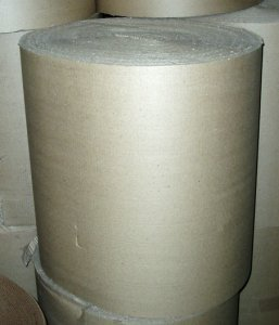 "Picture of item 380-105 a Corrugated Flex Wrap.  48"" x 250 Feet.  B-Flute Singleface."