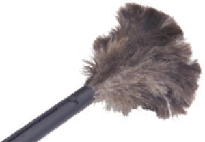 "Picture of item 515-201 a Retractable Feather Duster.  6"" Plume, 15"" Long."