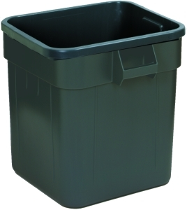 "Huskee™ Square Receptacle.  55 Gallon.  25"" x 25"" x 32-1/4"" Tall.  Gray Color."