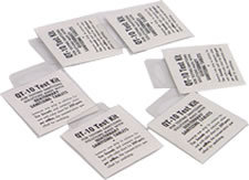 Picture of item 604-802 a QT-10 TEST KIT 16 STRIPS/PKG. TESTS PROPER SANITIZING SOLUTIONS USED W/ TABLETS.
