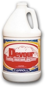 Picture of item 615-401 a Devour Foaming Meatroom Degreaser.  Hard Surface Cleaner.  5 Gallon Pail.