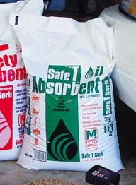 Picture of item 641-202 a Safety Absorbent. Oil absorbent. 40 lb. poly bag. Coarse granulation.