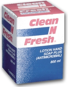 Picture of item 670-306 a Clean N Fresh® Antimicrobial Lotion Hand Soap.  800 mL Refill.
