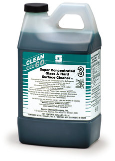 Picture of item 672-307 a Super Concentrated Glass & Hard Surface Cleaner 3.  No film. No streaking. Dries fast. No ammonia. For Clean on the Go Dispenser.  2 Liters.