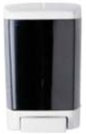 "Picture of item 672-802 a ClearVu® Soap Dispenser.  8.5"" x 5.5"" x 4.25"".  Translucent Gray Color.  46 oz. Capacity."