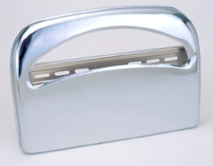 "Toilet Seat Cover Dispenser.  Chrome Finish.  16-1/4"" x 11-1/2"" x 2-1/2"".  Holds 1 Sleeve."