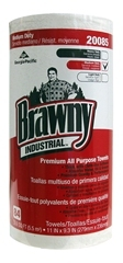 "Brawny Industrial™ Premium All Purpose DRC Perforated Roll Wiper.  11"" x 9.3"".  White Color.  84 Wipers/Roll, 20 Rolls/Case."