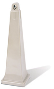 "GroundsKeeper® Smoking Management Receptacle.  12-1/4"" x 12-1/4"" x 39.4"".  Beige Color."