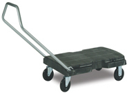 "Picture of item 977-348 a Triple® Trolley, Standard Duty with User-Friendly Handle and 5"" dia x 7/8"" Casters.  500 lb. Capacity.  32-1/2"" x 20"".  Black Color.  3-Position Handle."