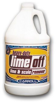 Picture of item H889-405 a Lime Off.  Heavy Duty Delimer.  Designed for dishwashing machines.  Dissolves and removes lime scale buildup.  1 Gallon.
