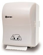 Picture of item 975-567 a Silhouette® OptiServ™ Hands-Free Controlled-Use Roll Towel Dispenser.  White Translucent.