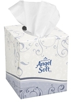"Picture of item 886-105 a Angel Soft ps® Premium Facial Tissue, Cube Box.  7.65"" x 8.85"".  96 Sheets/36 Boxes"