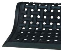 Comfort Flow™ Indoor Flow Through/Anti-Fatigue Mat.  3 Feet x 5 Feet.  Black Color.