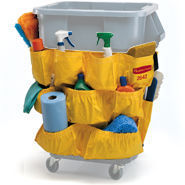 Picture of item 970-448 a BRUTE® Caddy Bag for 2632, 2643 Containers.  12 Pockets.  Yellow Color.