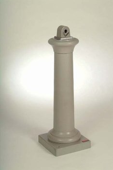 "Picture of item 970-928 a GroundsKeeper® Tuscan Receptacle.  13"" x 13"" x 38-3/8"".  Sandstone Color."