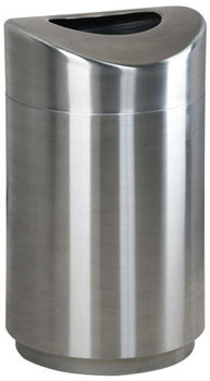 "Picture of item 970-306 a Eclipse Indoor Decorative Open Top Receptacle.  30 Gallon.  20"" Diameter x 33-1/2"" Height.  Stainless Steel."