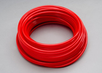"Picture of item 970-638 a SparClean™ Warewash accessories:  Tubing 1/4"" Red.  100 foot roll.  Red Poly-Flex 2 and 3 pump dispenser tubing for warewash DETERGENT applications."