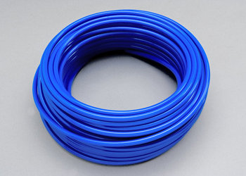 "Picture of item 970-639 a SparClean™ Warewash accessories:  Tubing 1/4"" Blue.  100 foot roll.  Red Poly-Flex 2 and 3 pump dispenser tubing for warewash RINSE applications."