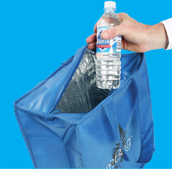 "Picture of item 971-325 a ReBag™ Reusable Thermal (Insulated) Shopping Bag.  13"" x 8"" x 14"" x 8"".  Non-Woven Polypropylene.  Recyclable."