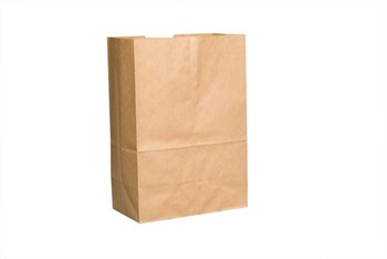 "Picture of item 310-123 a Grocery Sack.  1/6 Barrel.  12"" x 7"" x 17"".  57 lb. Kraft Paper.  500 Bags/Bale."