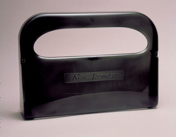 "Toilet Seat Cover Dispenser.  Smoke Color.  16-1/4"" x 11-1/2"" x 3-1/4"".  Holds 2 Half-Fold Sleeves."