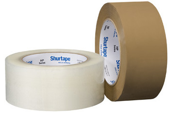 HP 300® Performance Grade Hot Melt Packaging Tape, 48 mm x 100 meters, Clear Color, 36 Rolls/Case.