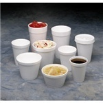 Picture of item 107-402 a Foam Cup.  8 oz.  White Color.  25 Cups/Sleeve.