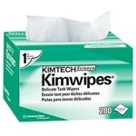 "Picture of item 351-101 a KIMTECH SCIENCE* KIMWIPES* Delicate Task Wipers.  Pop-Up Box.  4.4"" x 8.4"" Wiper.  White Color.  280 Wipers/Pop-Up Box."