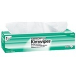 "Picture of item 351-102 a KIMTECH SCIENCE* KIMWIPES* Delicate Task Wipers.  Pop-Up Box.  14.7"" x 16.6"" Wiper.  White Color.  140 Wipers/Pop-Up Box, 15 Boxes/Case."