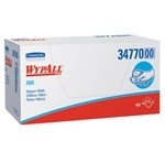 "WYPALL* X60 Wipers.  1/4 Fold.  11"" x 23"" Wipers.  White Color.  100 Wipers/Box."