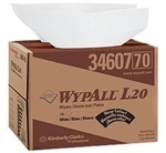 "Picture of item 351-112 a WYPALL* L20 Wipers.  Brag Box.  12.5"" x 16.8"" Wiper.  White Color."