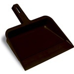 "Picture of item 518-106 a Plastic Dust Pan.  4"" x 12-1/4"" x 12"".  Black Color."