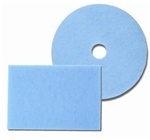 "Blue Ice® Burnishing Floor Pads.  17"" Diameter.  Blue Color.  A super soft pad for dry burnishing. Recommended for use on machines operating at 1000-3000+ R.P.M."