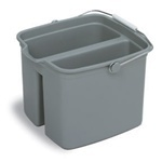 "Huskee™ Divided Pail.  16 Quart.  Gray Color.  10"" x 14-1/8"" x 12-1/2""."