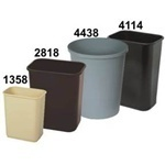 "Picture of item 561-115 a Rectangular Commercial Plastic Wastebasket.  41 Quart.  11"" x 15-1/4"" x 19-7/8"" Tall.  Black Color."