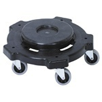 "Picture of item 562-161 a Huskee™ Dolly for Round Receptacles.  18"" Diameter x 5"".  Black Color.  Fits 20, 32, 44, and 55 Gallon Round Huskee™ Receptacles."