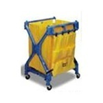 "Picture of item 563-108 a Caddy Bag with 10 Pockets.  24"" x 19"".  Yellow Color.  Heavy rip stop vinyl bag designed to store cleaning supplies.  Fits 275, 54, 55 Carts."