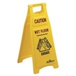 "Picture of item 595-112 a Floor Sign.  ""Closed"" Sign.  26"" Tall.  Yellow Color."