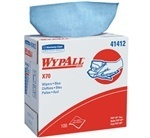 "Picture of item 874-208 a WYPALL* X70 Wipers.  Pop-Up Box.  9.1"" x 16.8"" Wiper.  Blue Color.  100 Wipers/Pop-Up Box."