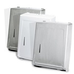 "Combo Towel Cabinet for Multi-Fold or ""C"" Fold Towels. 15-3/8 X 11-1/4 X 4-1/16 in. Stainless Steel."