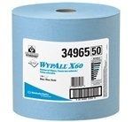 "Picture of item 969-268 a WYPALL* X60 Wipers.  Jumbo Roll.  12.5"" x 13.4"" Wiper.  White Color.  1,100 Wipers/Roll."