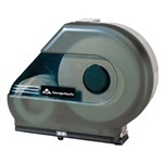 Picture of item 971-397 a GP Jumbo Jr. Bathroom Tissue Dispenser with Stub Roll Feature & Mandrel.  Translucent Smoke.