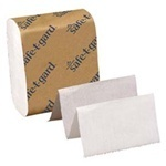 "Picture of item 971-890 a Safe-T-Gard™ Interfolded Door Tissue.  4"" x 10"".  White Color.  200 Sheets/Package."