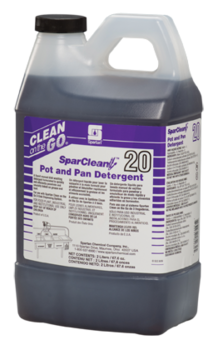 Picture of item 672-352 a SparClean™ Pot and Pan Detergent.  Clean on the Go® 2 Liters.