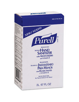 Picture of item 670-788 a PURELL® Advanced Instant Hand Sanitizer.  NXT® 2000 mL Refill.  4/Case.