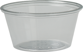 Picture of item 106-216 a Ultra Clear™ PET Soufflé Portion Cups.  2 oz.  Clear.  Use PL2 Lid.  250 Cups/Sleeve.