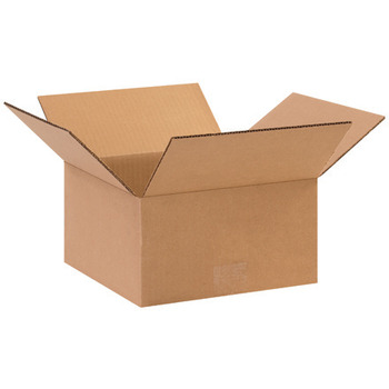"Picture of item 969-640 a Flat Corrugated Boxes.  10"" x 10"" x 5""."