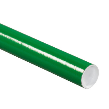 "Picture of item 967-080 a Mailing Tubes with Caps.  2"" x 18"".  Green Color."