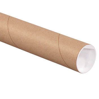 "Picture of item 967-084 a Mailing Tubes with Caps.  2"" x 18"".  Kraft Color."