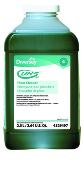 Picture of item HP601-212 a UHS™ Floor Cleaner.  2.5 L J-Fill® Container. Blue-green color. Ammonia Scent. ph 11.1. Required brush speed: 1500 RPM.